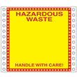 "Blank Hazardous Waste Label<br />Perm adhesive<br />6"" x 6"", pinfeed, 1,000/bx"