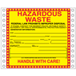 "Hazardous Waste Label<br />Tyvek® w/perm adhesive<br />6"" x 6"", pinfeed, 1,000/bx"