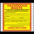 "California Haz Waste Label<br />Tyvek® w/perm adhesive<br />6"" x 6"", pinfeed, 1,000/bx"