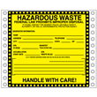 "Hazardous Waste Label<br />Perm adhesive<br />6"" x 6"", pinfeed, 1,000/bx"