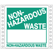 """Blank Non-Hazardous<br />Waste Label<br />Tyvek® w/perm adhesive<br />6"""" x 6"""", pinfeed, 1,000/Bx"""
