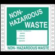 "Non-Hazardous Waste Label<br />Vinyl w/perm adhesive<br />6"" x 6"", pinfeed, 1,000/bx"