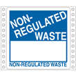 "Blank<br />Non-Regulated Waste Label<br />Perm adhesive<br />6"" x 6"", pinfeed, 1,000/bx"