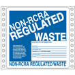 """Non-RCRA Regulated Waste Label<br />Tyvek® w/perm adhesive<br />6"""" x 6"""", pinfeed, 1,000/Bx"""