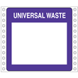 "Blank<br />Universal Waste Label<br />Perm adhesive<br />6"" x 6"", pinfeed, 1,000/bx"