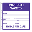 "Universal Waste Label<br />Handle With Care<br />Perm adhesive<br />6"" x 6"", pinfeed, 1,000/bx"