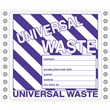 """Universal Waste Label<br />Tyvek® w/perm adhesive<br />6"""" x 6"""", pinfeed, 1,000/Bx"""