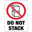 Do Not Stack<br />Heavyweight Gloss Paper<br />3 X 4.125 LABEL, 500/roll