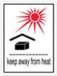 KEEP AWAY FROM HEAT<br />Heavyweight Gloss Paper<br />3 X 4.125 LABEL, 500/roll