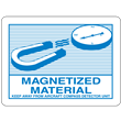 "IATA/D.O.T.<br />Magnetized Material<br />4.125"" x 3"" Label, 500/roll"