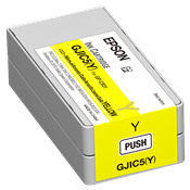 Epson GJIC5(Y) Yellow Ink Cartridge <br />for the ColorWorks C831 <br />Inkjet Label Printer