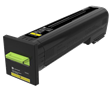 Lexmark CS820<br />Yellow Extra High Yield<br />Return Program<br />Toner Cartridge