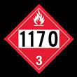 UN 1170 Class 3<br />FLAMMABLE LIQUID<br />4-Digit Placard<br />Removable Vinyl, 50/Pack
