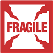 "Regulated<br />Fragile<br />4"" x 4"" Label, 500/roll"
