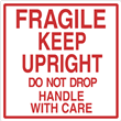 "Regulated<br />Fragile Keep Upright<br />4"" x 4"" Label, 500/roll"