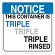 "Triple Rinsed Label<br />PVC-free Poly<br />6"" x 6"", 500/roll"
