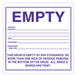 """Empty by EPA Standards<br />PVC-free Poly Label<br />6"""" x 6"""", 500/roll"""