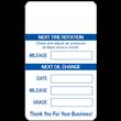 """1.5"""" x 2.5""""<br />White Preprinted<br />Service Reminder Labels"""